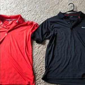 Lot Adidas and Taylormade Golf Shirts Size Medium
